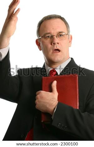 minister preaching a sermon - stock photo