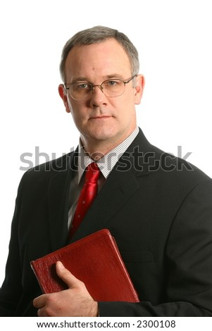 Minister with gentle expression - stock photo