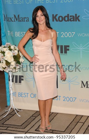 Minka Kelly at the Women in Film 2007 Crystal + Lucy Awards at the Beverly Hilton Hotel. June 15, 2007  Beverly Hills, CA Picture: Paul Smith / Featureflash
