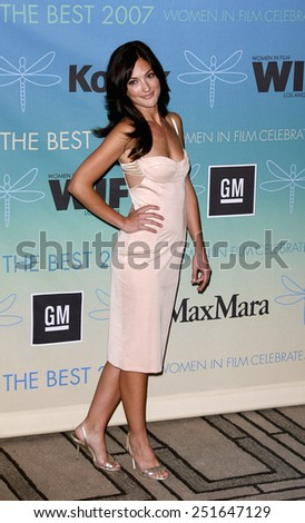 Minka Kelly attends Women In Film Presents The 2007 Crystal and Lucy Awards held at the Beverly Hilton Hotel in Beverly Hills, California, California, on June 14, 2006.