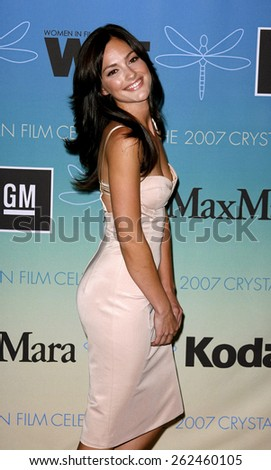 Minka Kelly attends Women In Film Presents The 2007 Crystal and Lucy Awards held at the Beverly Hilton Hotel in Beverly Hills, California, California, on June 14, 2006.  - stock photo