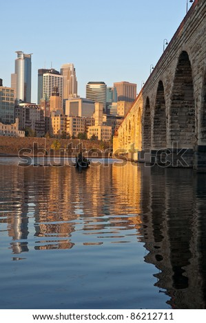 Minneapolis. Image of city of Minneapolis in the early morning . - stock photo