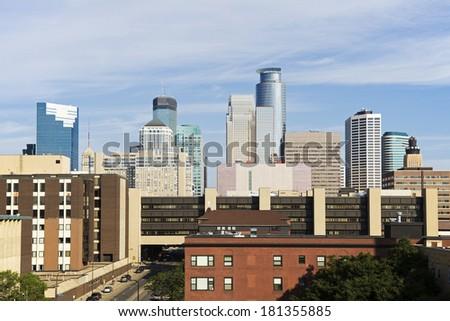 Minneapolis, Minnesota seen morning time - stock photo