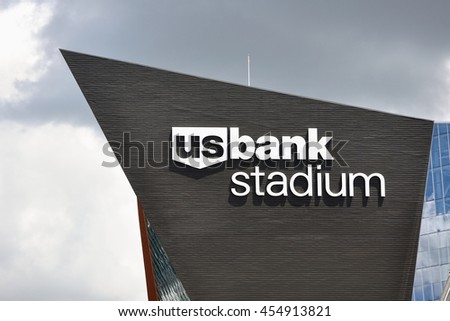 MINNEAPOLIS, MN, USA - JULY 15 2016: Minnesota Vikings US Bank Stadium in Minneapolis on a Sunny Day