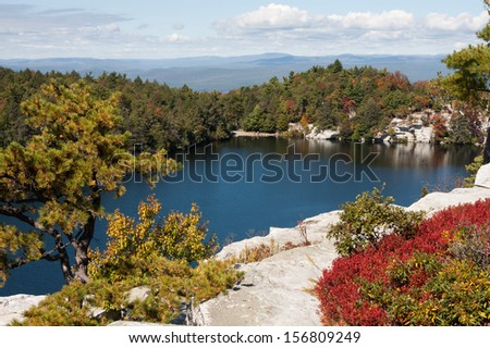 Minnewaska State Park in  Ulster County, New York. - stock photo