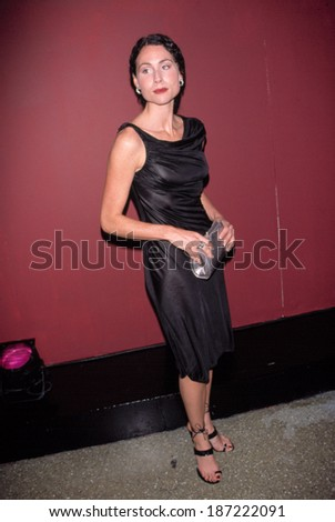 Minnie Driver at 7TH ON 6TH VERSACE FALL SHOW, NY 3/28/98 - stock photo