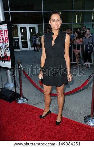 "Minnie Driver at the ""I Give It A Year"" Los Angeles Special Screening, Arclight, Hollywood, CA 08-01-13 - stock photo"