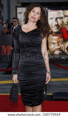 Minnie Driver at the World premiere of 'The A-Team' held at the Grauman's Chinese Theater in Hollywood, USA on June 3, 2010. - stock photo