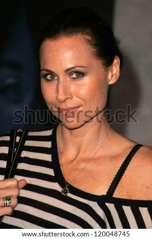 "Minnie Driver at the World Premiere of ""The Prestige"". El Capitan Theater, Hollywood, CA. 10-17-06 - stock photo"