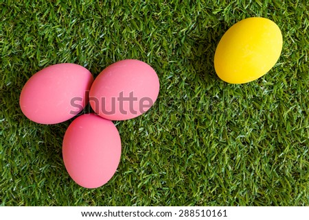 Minority Concept : One Egg Separated from Group - stock photo