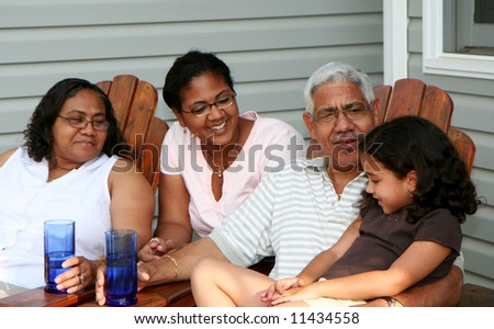 Minority couple at their home - stock photo