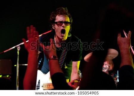 MINSK, BELARUS - APRIL 05: Glenn Hughes, live concert on April 05, 2008 in Minsk, Belarus - stock photo