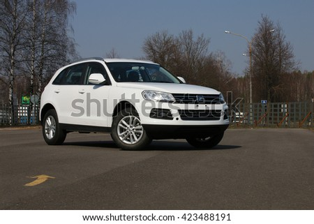 MINSK, BELARUS APRIL 7, 2016: New Zotye T600 at the test drive event for automotive journalists from Minsk - stock photo