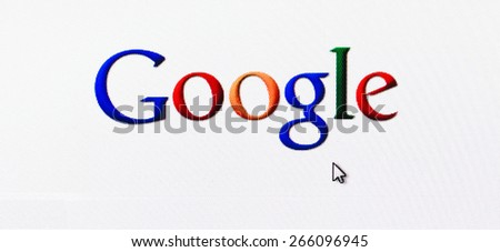 MINSK, BELARUS - May 20, 2011: Homepage Of Google.Com, The Biggest Search Engine. Google is an American multinational corporation specializing in Internet-related services and products. - stock photo