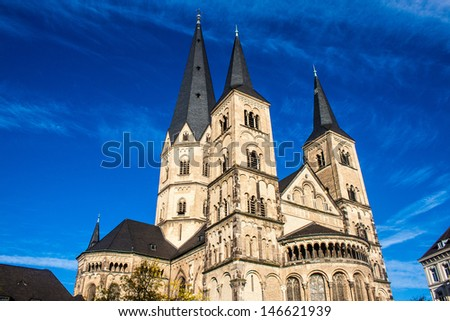 Minster (church) in Bonn, Germany - stock photo