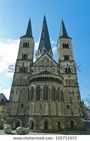 Minster, one of the oldest churches in Germany, emblem of the City of Bonn