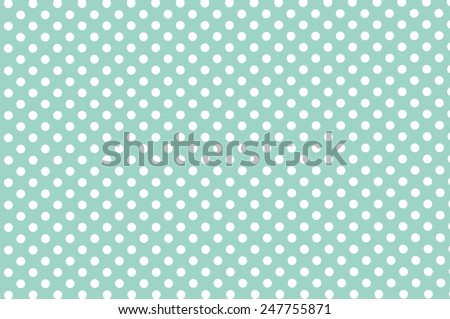 Mint green old retro paper background with small polka dot pattern - stock photo