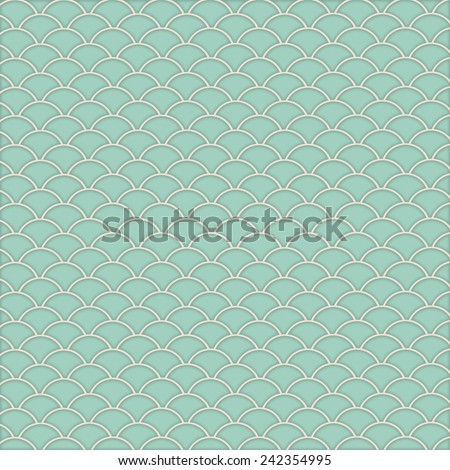 Mint Green scale Print with soft shading and highlights Background  - stock photo