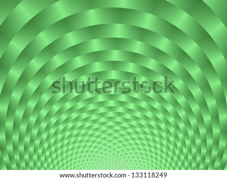 Mint Green Weave / Abstract fractal image with a circular weave design in mint green.