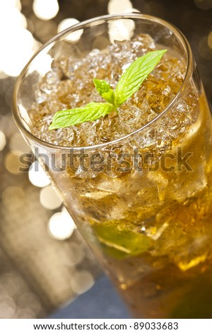 Mint-Julep cocktail a old creation from the USA - stock photo