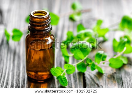 Mint oil - stock photo