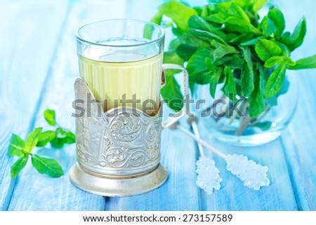 mint tea - stock photo