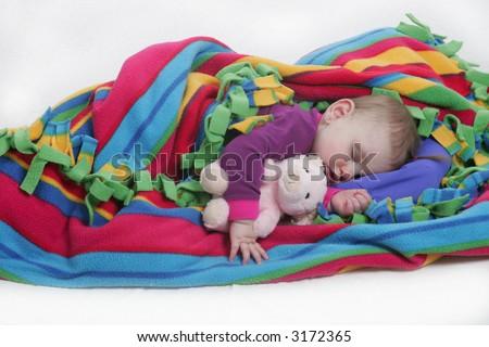 mirabelle sleeping - stock photo
