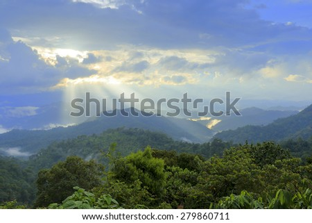 Miracle of light in tropical country, Thailand. - stock photo