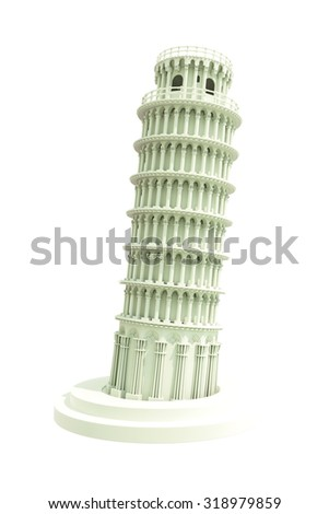 miracle tower model isolated on white background