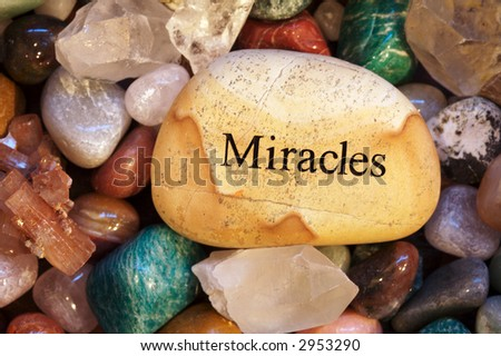 Miracles and Stones - stock photo
