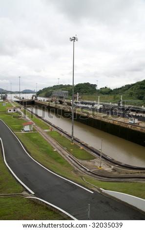 Miraflores Locks, Panama Canal - stock photo