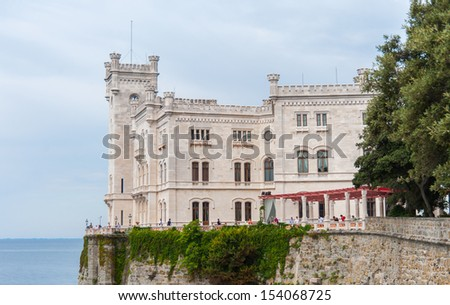 Miramare castle, Trieste, Italy. - stock photo