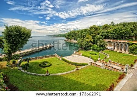 Miramare Castle, Trieste, Italy  - stock photo