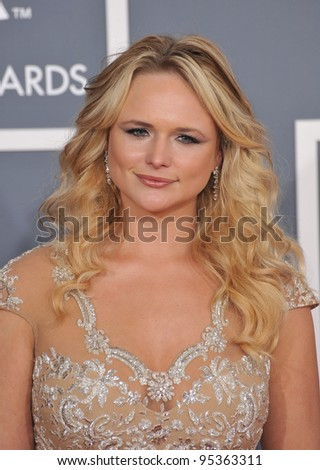 Miranda Lambert at the 54th Annual Grammy Awards at the Staples Centre, Los Angeles. February 12, 2012  Los Angeles, CA Picture: Paul Smith / Featureflash