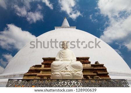Mirisavatiya Dagoba, stupa in Anuradhapura, Sri Lanka - stock photo