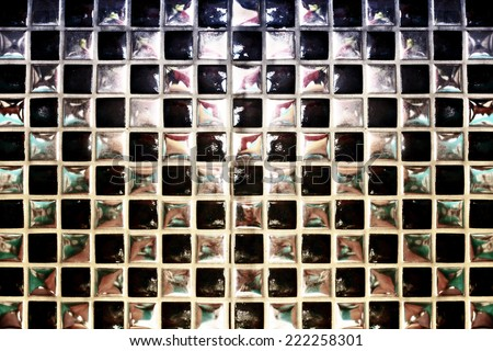 Mirror Background - stock photo