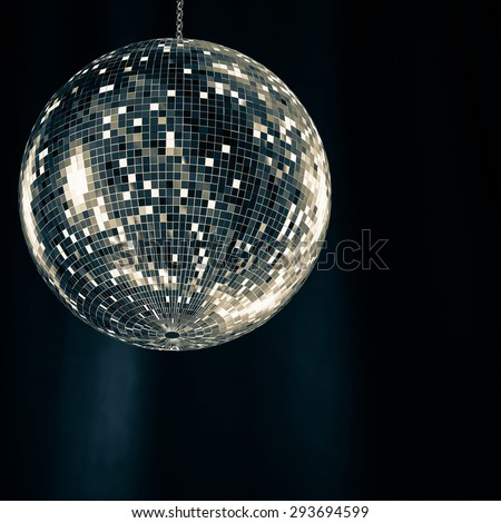 Mirror Ball Classic in the background 3d rendering. - stock photo