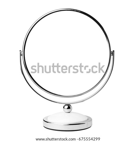 Mirror cosmetic, clipping path, isolated on white background