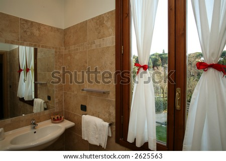 mirror in hotel - stock photo