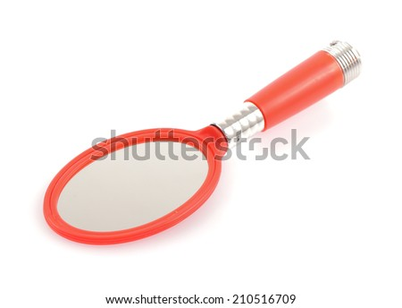 mirror isolated on white background - stock photo