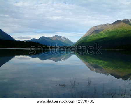 mirror lake, Alaska - stock photo