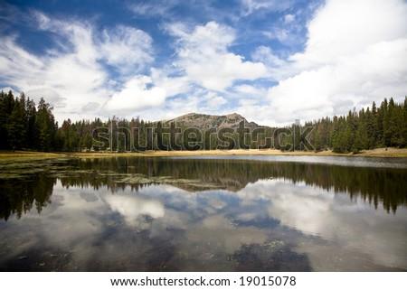 Mirror Lake in the Uinta mountains of Utah - stock photo