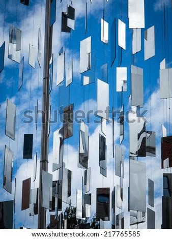 Mirror monument - stock photo