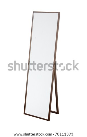 Mirror on the floor - stock photo