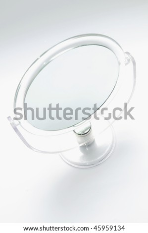 Mirror on the white background