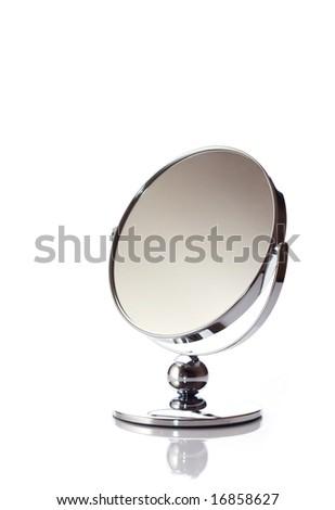 Mirror on white background - stock photo