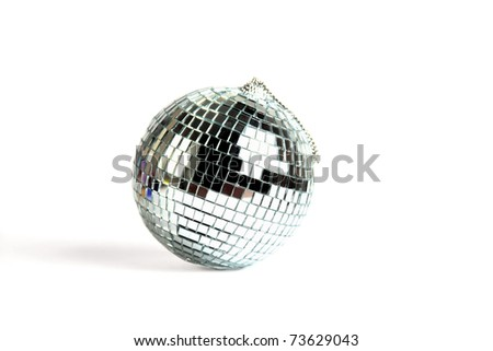 Mirror sphere isolated - stock photo