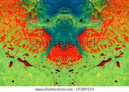 Mirrored painting - stock photo