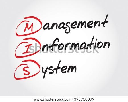 MIS Management Information System, acronym business concept - stock photo