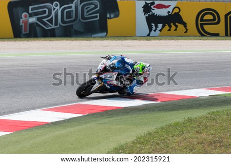 MISANO ADRIATICO, ITALY - JUNE 21: BMW S1000 RR EVO of BMW Motorrad Italia SBK team, driven by BARRIER Sylvain in action during the Superbike Free Practice 4th Session during the FIM Superbike